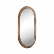 Warm Design	  Oval Mango Wood Framed Wall Mirror