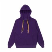 Common People  Purple Cuff Detailed Hoodie - Unisex