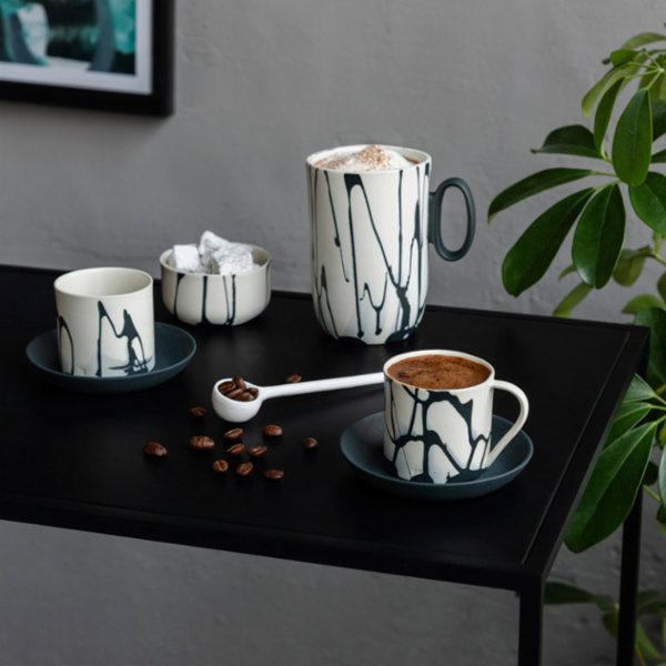 Masuma Ceramics Noir Turkish Coffee Set