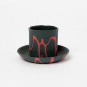 Masuma Ceramics  Raspberry Espresso Set