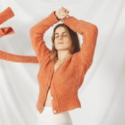 bute  Shndrit Cardigan - Kinda Peachy