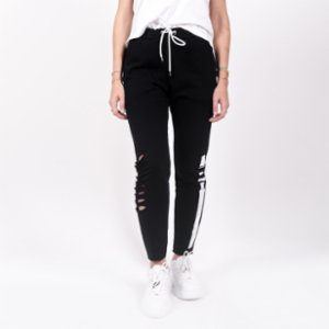 Bassigue  White Stripe Woman Sweatpants