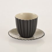 Oolo Studio  Plise Handle Coffee Cup and Saucer