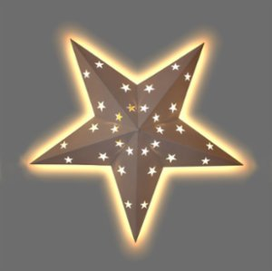 2 Stories  Star Leds Ceiling Lamp