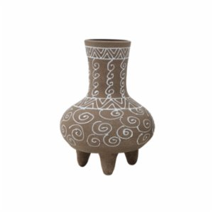 Warm Design	  Terra Cotta Footed Vase