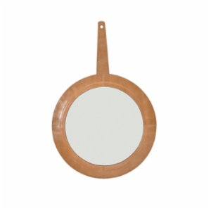 Warm Design	  Leather Framed Mirror