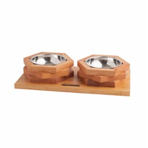 Wood&Tail  Hexxup Cat/Dog Bowl Stand