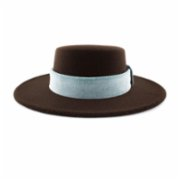 Michrame  Boater Brown Unisex Hat