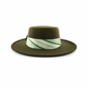 Michrame  Boater Green Unisex Hat