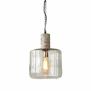 Warm Design	  Glass & Wood Hanging Pendant Lamp