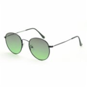 Looklight  Round-M Matte Black Unisex Sunglasses