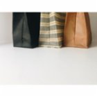 Less. Striped Beeswax Bag
