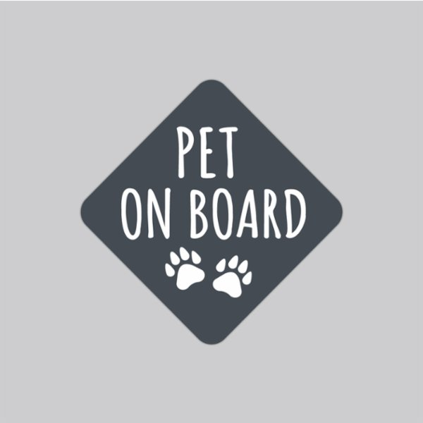 Baluna Pet on Board Car Sticker