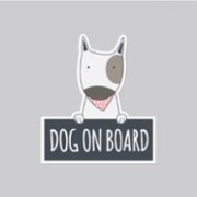 Baluna  Dog on Board Car Sticker