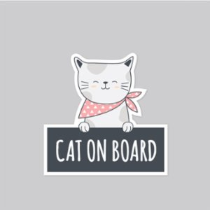Baluna  Cat on Board Car Sticker