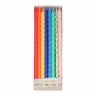 Meri Meri Multi Neon Twisted Candles