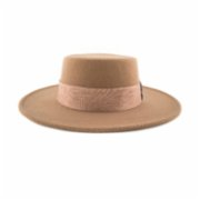 Michrame  Boater Sign Camel Unisex Hat