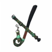 Pawtools  Green Africa - Collar And Leash