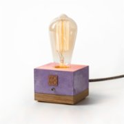 Womodesign  Coloured Concrete Wooden Lamp