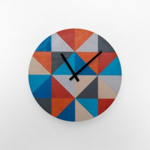 Womodesign  Clolured Wooden Wall Clock