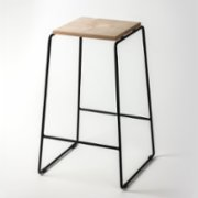 Womodesign  Bar Stool With Metal Legs