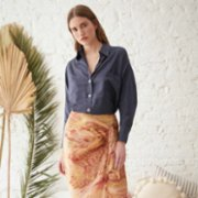 Souq Samurai  Capri Shirt In Silk Blend