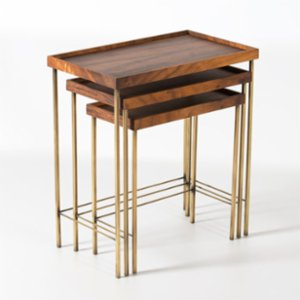 Ananas Woodworking  Edge Aged Zigon Side Table