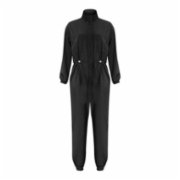 Rivus  Crepe Jumpsuit with Tie Waist