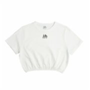Fifty Pieces  Gathered Crop T-Shirt