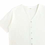 Fifty Pieces  Oversize Buttoned Blouse