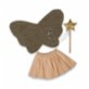 Pikabu Gold Glittery-Butterfly Fairy Wings Set
