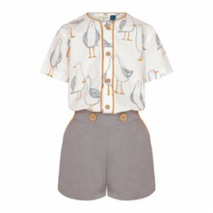 miniscule by ebrar  SunGull  Shirt and Shorts Set