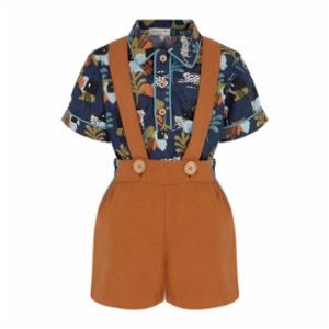 miniscule by ebrar  SunForest Shirt and Shorts Set
