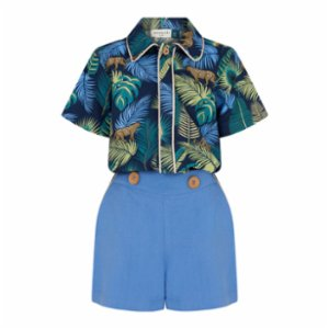 miniscule by ebrar  SunTiger Shirt and Shorts Set