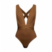 Rivus  Deep Cleavage Cross Back Bodysuit