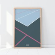 Pop by Gaea  Tennis Court Print