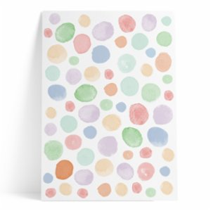 Pop by Gaea  Watercolor Dots Colorful III Sticker