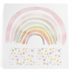 Pop by Gaea  Watercolor Rainbows & Watercolor Dots XL Pinks Sticker