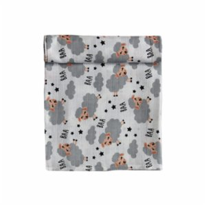 Bone Dea  Sheep Muslin Swaddle Blanket