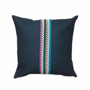 Bohemtolia  Black Pillow Cover with Detail