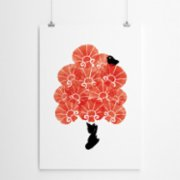 Fabl  Red Carnations Print