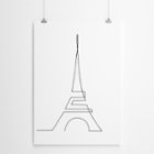 Fabl The Eiffel Tower In A Single Line Print