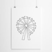 Fabl  The London Eye In A Single Line Print