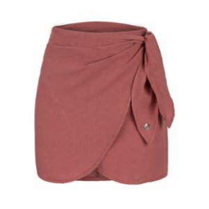 Dor Raw Luxury  Cheese And Grapes Linen Skirt