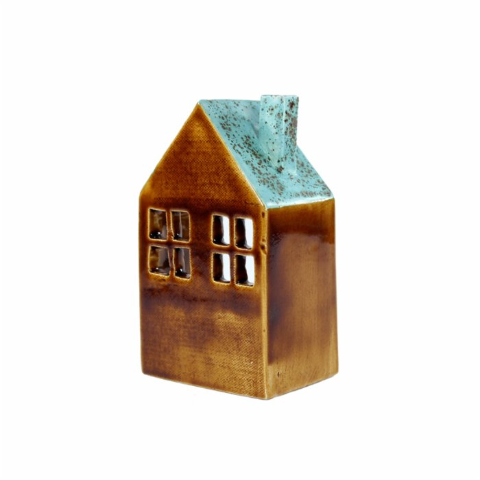 GA Ceramic House Candle Holder