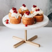 Minval  Cheer Marble Cakestand