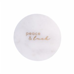 Minval  Peace & Luck Marble Plate