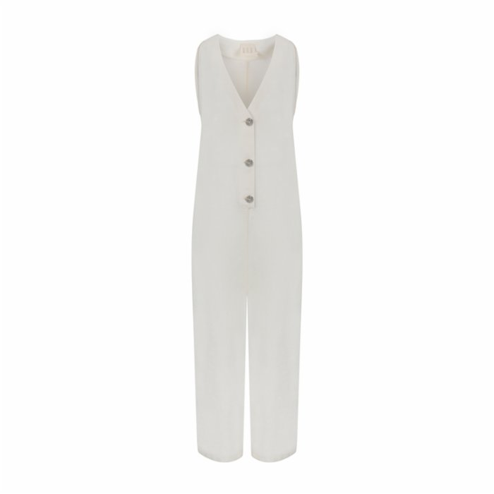 Dor Raw Luxury By The Lake Maggiore Linen Jumpsuit