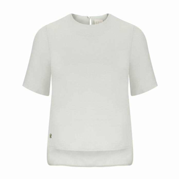 Dor Raw Luxury A Walk In Sintra Linen T-shirt Blouse