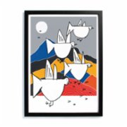 Studio These Days  Migration to Colorful Mountains Print